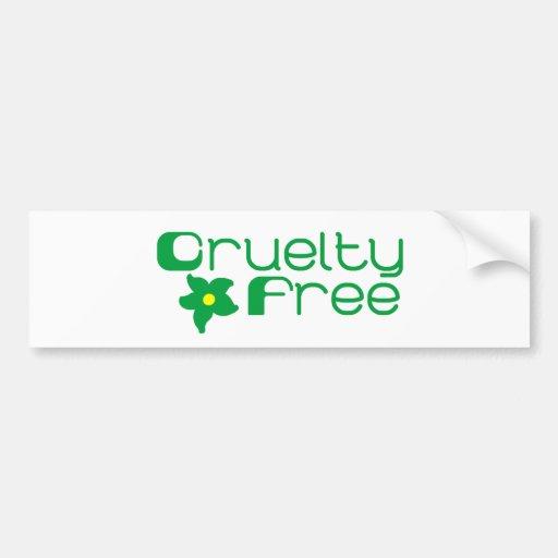 La crueldad libera diseño floral pegatina de parachoque