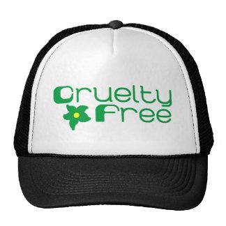 La crueldad libera diseño floral gorras de camionero