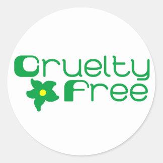 La crueldad libera diseño floral pegatina redonda