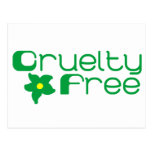 La crueldad libera diseño floral postal