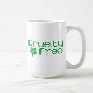 La crueldad libera diseño floral taza