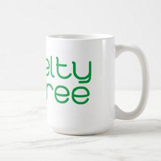 La crueldad libera diseño floral taza de café