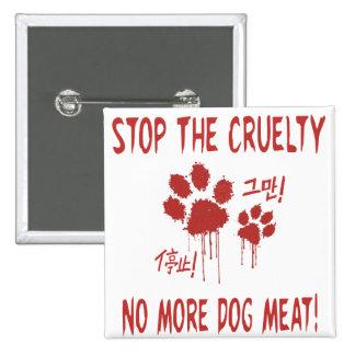 """La """"crueldad libera para botón de nuestros amigos pin cuadrado"""