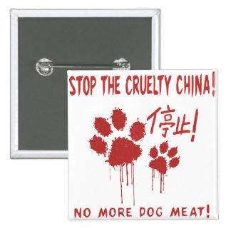 """La """"crueldad libera para botón de nuestros pin cuadrado"""