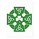 La cruz céltica de St Patrick Postal