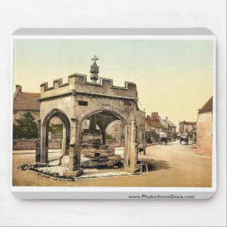 La cruz, Cheddar, vintage Photochrom de Inglaterra Alfombrillas De Ratones