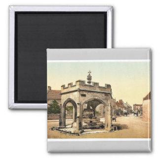 La cruz, Cheddar, vintage Photochrom de Inglaterra Imán Cuadrado