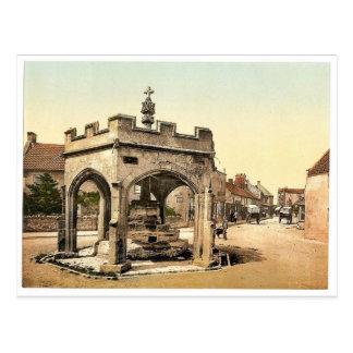 La cruz, Cheddar, vintage Photochrom de Inglaterra Postales