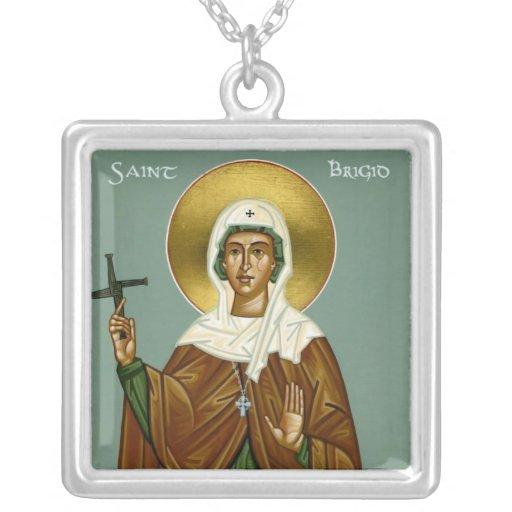 La cruz de Brigid del santo Colgante Cuadrado