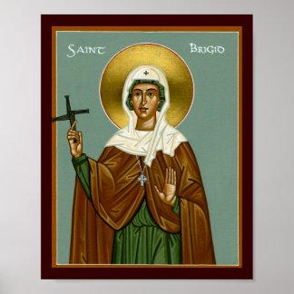 La cruz de Brigid del santo Póster