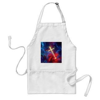 La cruz de Chrisian,… fuera de los cielos Delantal