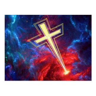 La cruz de Chrisian,… fuera de los cielos Postal
