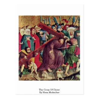 La cruz de Cristo de Hans Multscher Postales