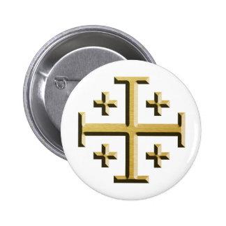 La cruz de Jerusalén - edición biselada del oro Pins
