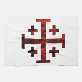 La cruz de Jerusalén Toalla De Mano