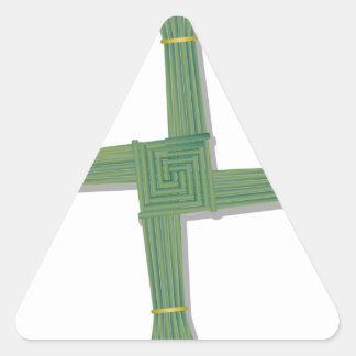 La cruz de la novia pegatina triangular