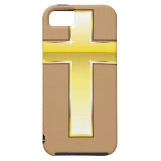 La cruz de oro del nuevo testamento funda para iPhone SE/5/5s