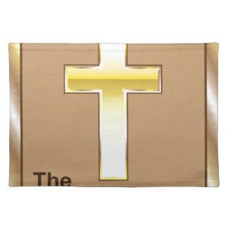 La cruz de oro del nuevo testamento manteles individuales