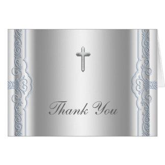 La cruz de plata y azul le agradece las tarjetas
