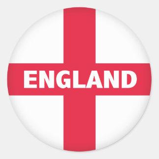 La cruz de San Jorge - bandera de Inglaterra Pegatinas Redondas