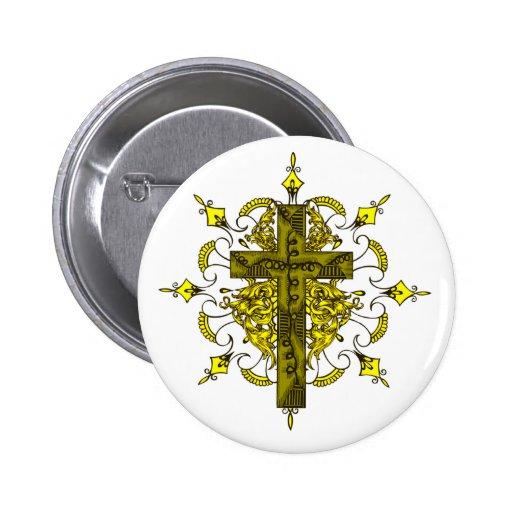 La cruz del emblema pins