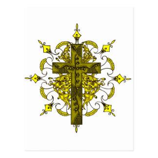 La cruz del emblema postal