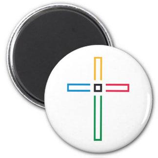 La cruz del evangelio imán redondo 5 cm