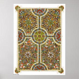 La cruz del poster del Celtic de la novia y de