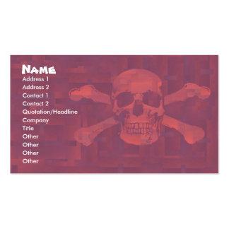 La cruz deshuesa la tarjeta del negocio/del perfil tarjetas de visita