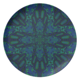 La cruz doble adentro blue&green plato de cena