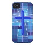 La cruz en las baldosas cerámicas iPhone 4 protectores