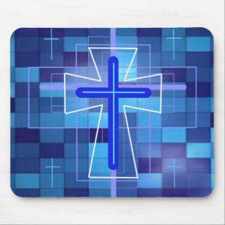 La cruz en las baldosas cerámicas mouse pads