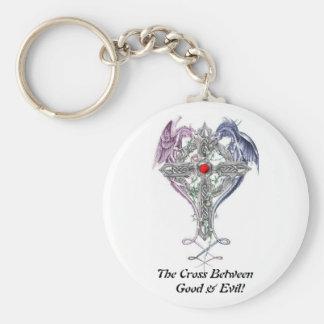 ¡La cruz entre el el bien y el mal! Llavero