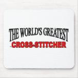 La Cruz-Grapadora más grande del mundo Tapetes De Ratones