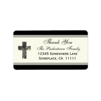 La cruz le agradece etiqueta de dirección
