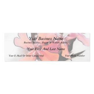La cruz maltesa florece el extracto tarjetas de visita mini