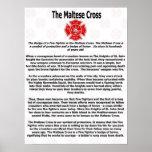 La cruz maltesa impresiones