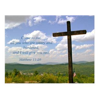La cruz, postal de la invitación del servicio de