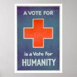La Cruz Roja es un voto para la humanidad (US00102 Poster