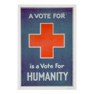 La Cruz Roja es un voto para la humanidad (US00102 Póster