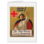 La Cruz Roja sirve humanidad - ahora únase a Tarjetón