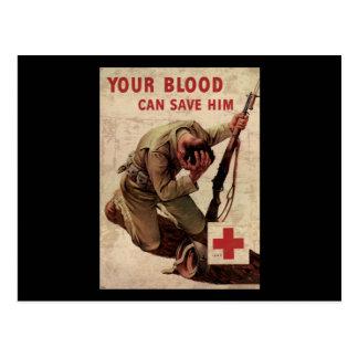 La Cruz Roja su sangre puede ahorrarlo Postales