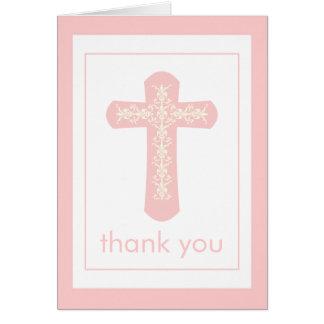 La cruz rosada dulce le agradece cardar tarjeton