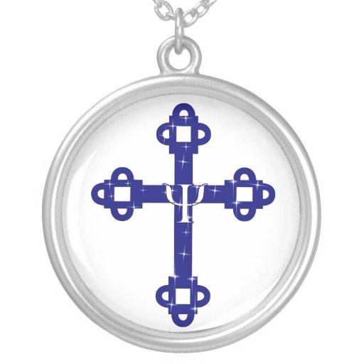 La cruz santa colgante redondo