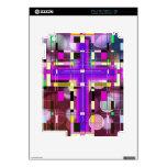 La cruz santa del vitral calcomanía para iPad 2