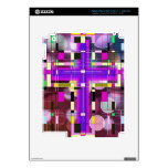 La cruz santa del vitral iPad 3 skin