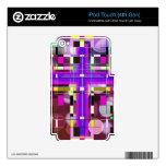 La cruz santa del vitral iPod touch 4G calcomanía