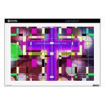 La cruz santa del vitral portátil calcomanía