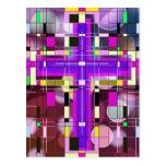 La cruz santa del vitral postal