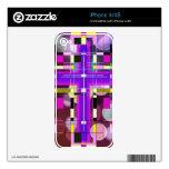 La cruz santa del vitral skins para iPhone 4S
